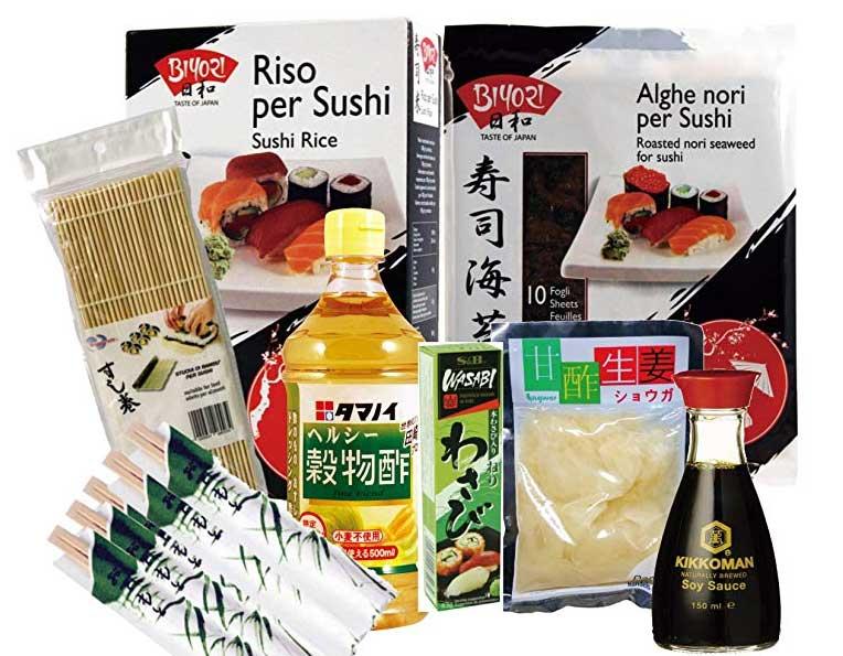 kit per fare il sushi in casa